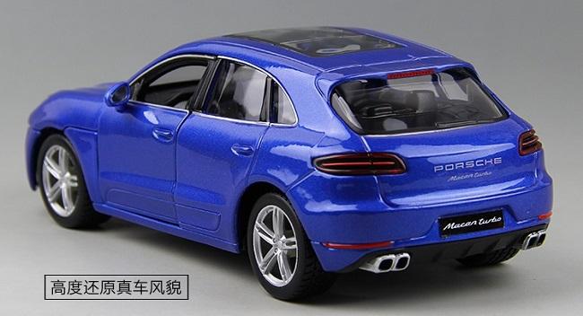 โมเดลรถ โมเดลรถยนต์ โมเดลรถเหล็ก porsche Macan blue 4