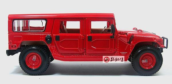 โมเดลรถ โมเดลรถเหล็ก โมเดลรถยนต์ Hummer H1 red 3