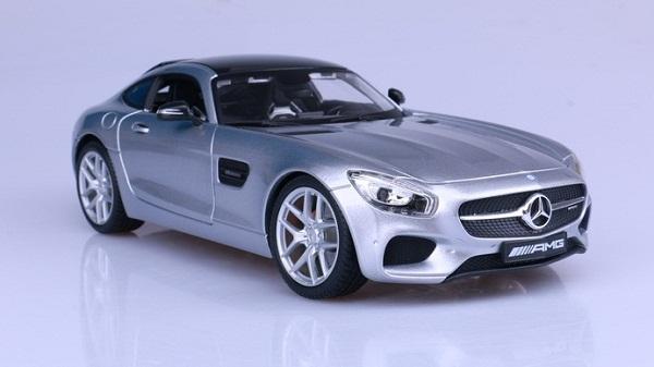 โมเดลรถ โมเดลรถเหล็ก โมเดลรถยนต์ Benz AMG GT silver 2