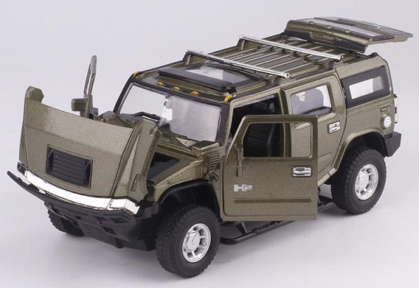 โมเดลรถเหล็ก โมเดลรถยนต์ Hummer h2 1