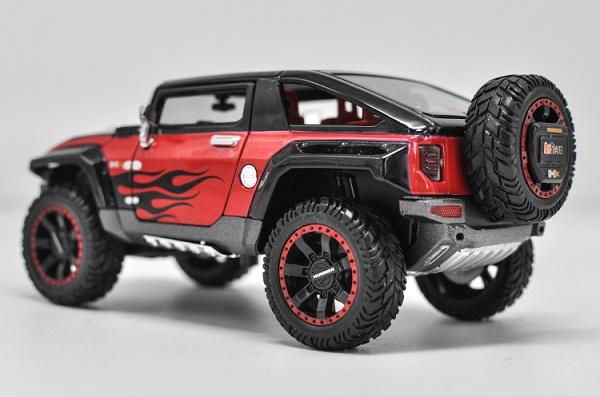 โมเดลรถเหล็ก โมเดลรถยนต์ Hummer HX black 2