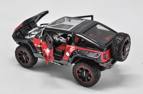 โมเดลรถเหล็ก โมเดลรถยนต์ Hummer HX black 5
