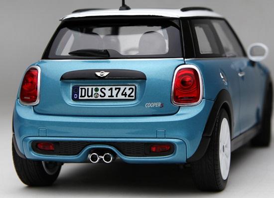 โมเดลรถ โมเดลรถเหล็ก โมเดลรถยนต์ Mini Cooper S sky blue 4
