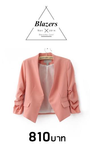 ++เสื้อสูท++H&Mงานเนี๊ยบ สีชมพูใส่สบาย มีกระเป๋าเป็นดีเทลด้านหน้าเก๋ๆ ใส่ได้ทั้ง indoor และ outdoor เลยคร่า