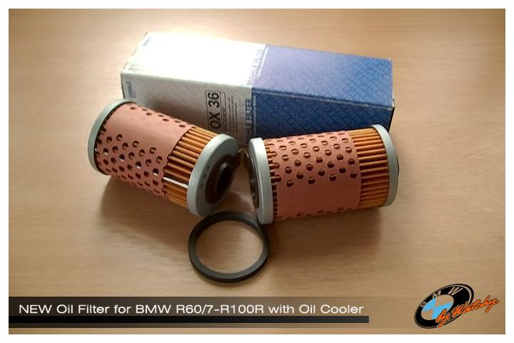 กรองน้ำมันเครื่อง สำหรับ R60/7-R100R ที่มี Oil Cooler เป็นของใหม่