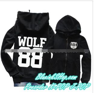 พร้อมส่ง Hood Hood Wolf EXO size M