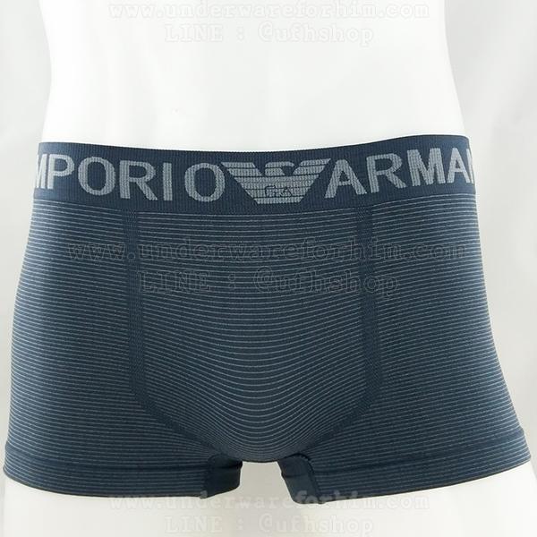 กางเกงในชาย Emporio Amani Boxer Briefs : สีเทา ลายขีดขวาง (FREE SIZE)