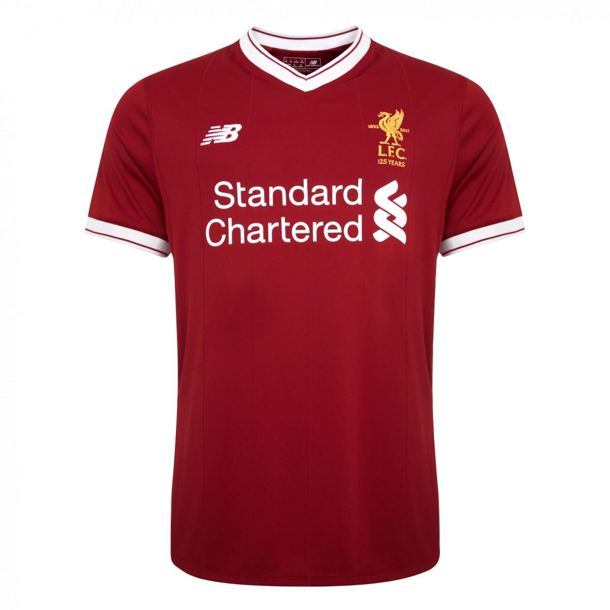 เสื้อลิเวอร์พูลทีมเหย้า 2017-2018 ของแท้ Liverpool Mens Replica Home Shirt 2017 2018