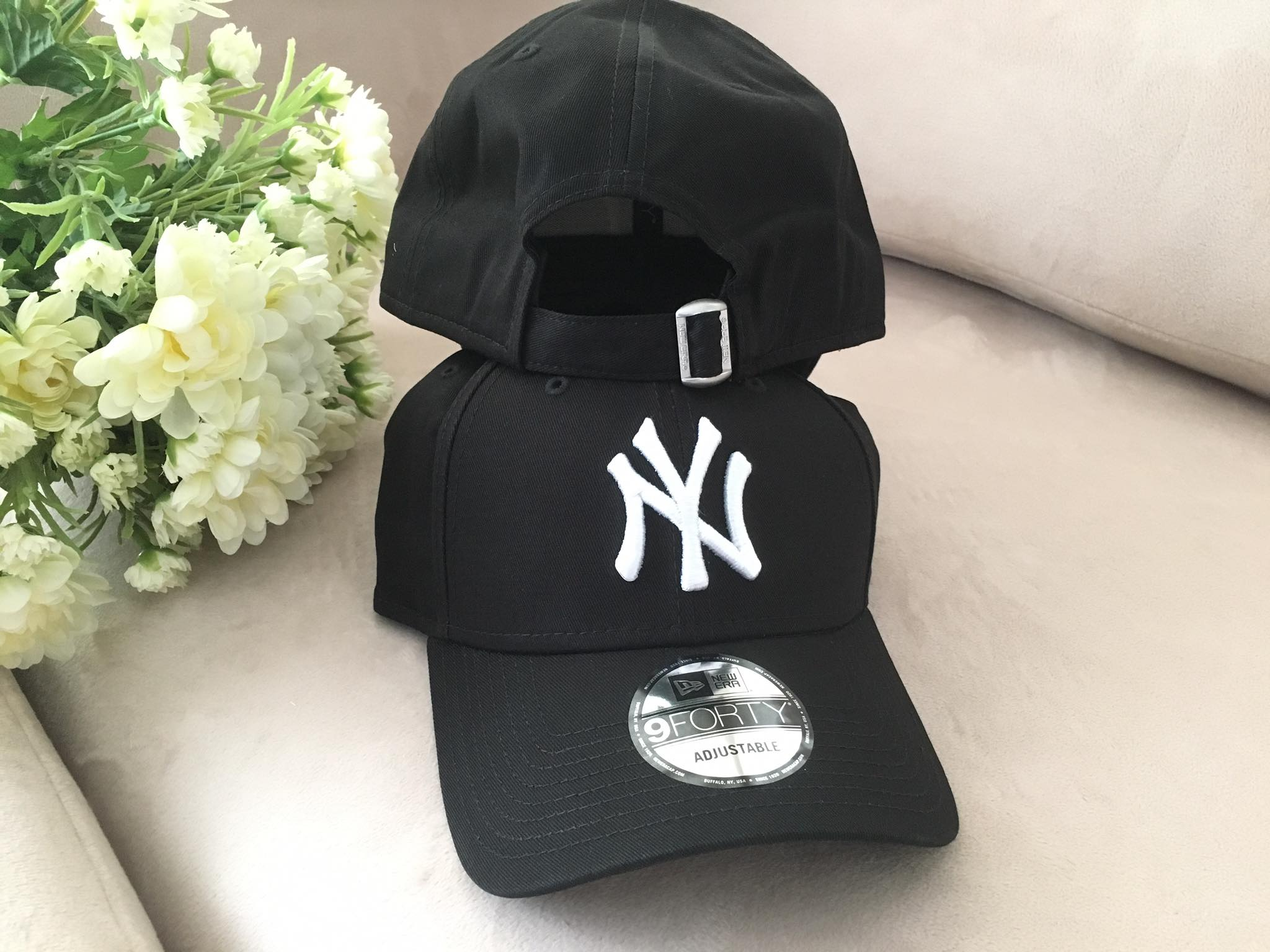 New Era MLB New York Yankees 9FORTY Cap BLACK