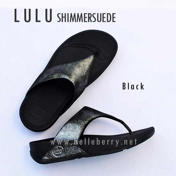 **พร้อมส่ง** FitFlop LULU Shimmersuede : Black : Size US 7 / EU 38