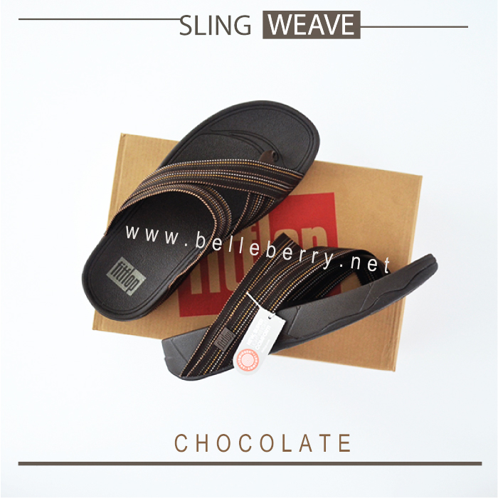 * NEW * FitFlop : SLING WEAVE : Chocolate : Size US 09 / EU 42