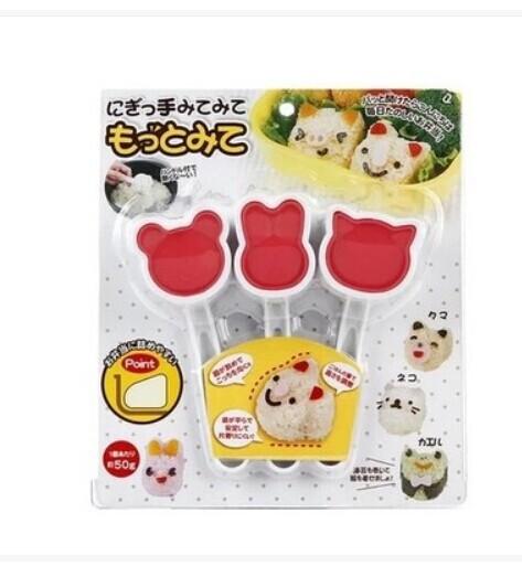 พิมพ์ทำข้าวปั้น รูปหมี กระต่าย แมว 3 สหาย
