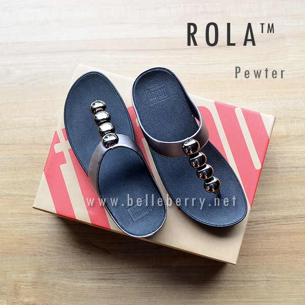 ** NEW ** FitFlop : ROLA : Pewter : Size US 9 / EU 41