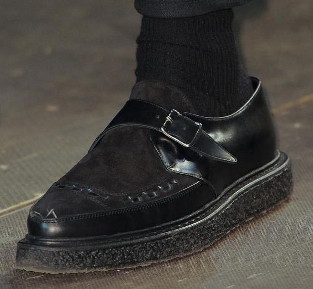 รองเท้าหนังSAINT LAURENT MONK STRAP CREEPER 30