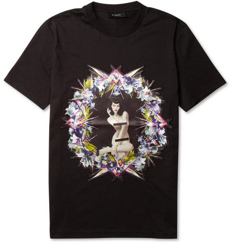 เสื้อGivenchy Pin-UpSatinAppliqueCuban-Print Hight Mirror