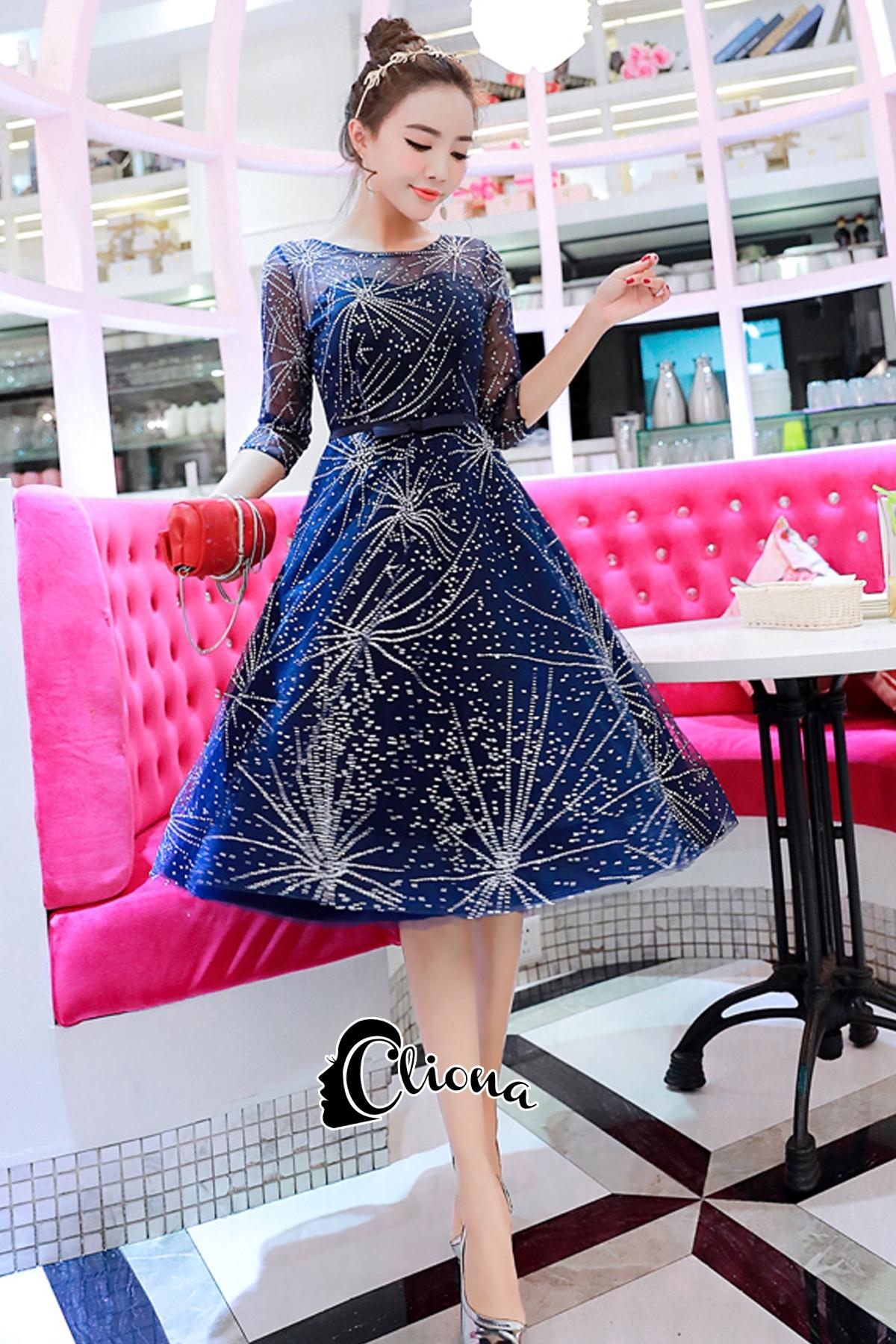 ชุดเดรสเกาหลี พร้อมส่งGalaxy Diamond Luxury Dress