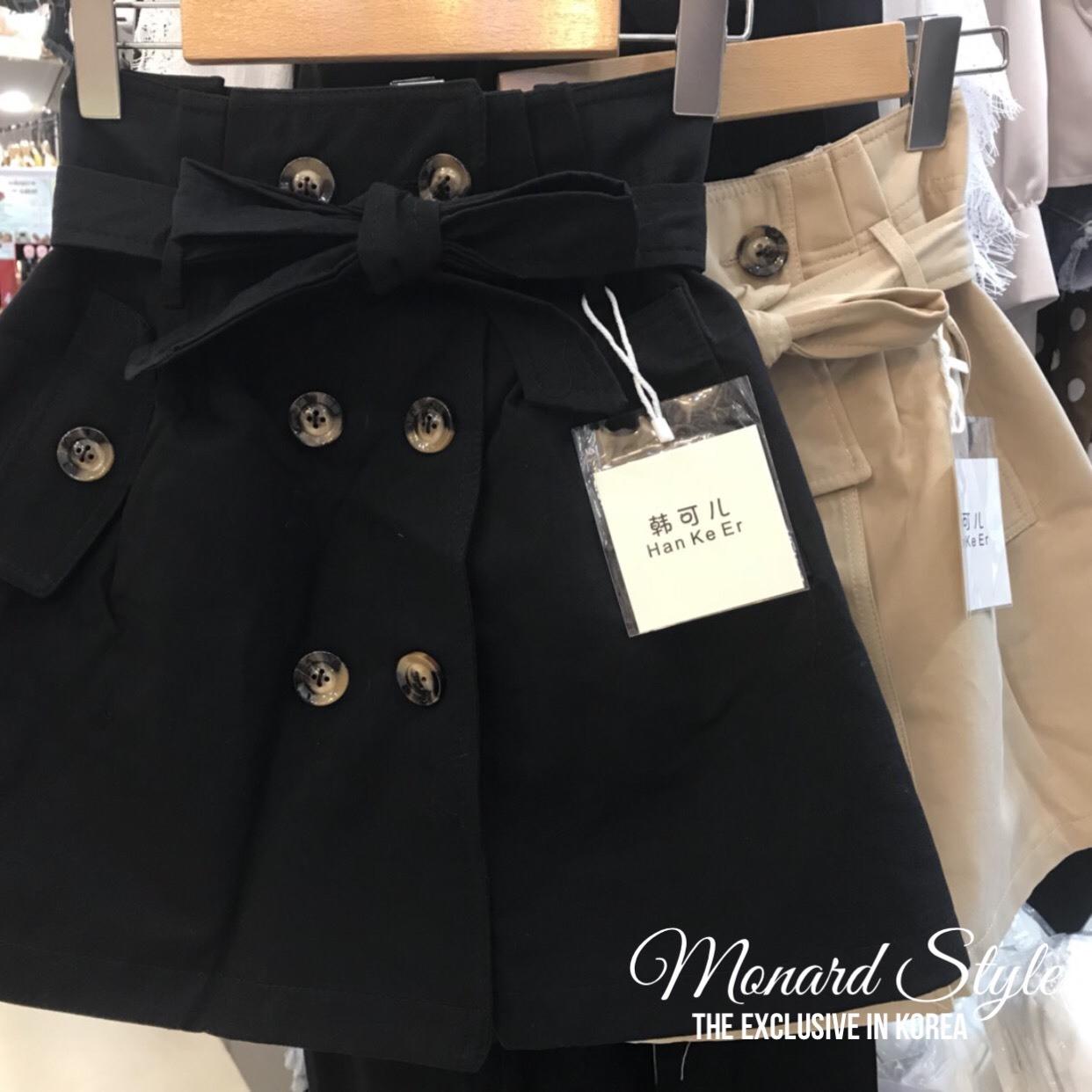 เสื้อผ้าแฟชั่นเกาหลีพร้อมส่ง น่ารักมากมายคร่า กระโปรงตัวนี้ กระโปรงทรงเอวสูงมีสมอคหลัง