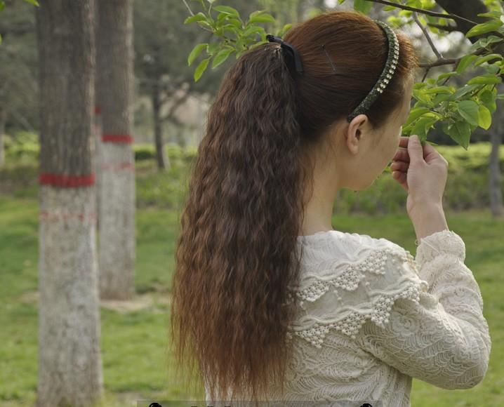 hair piece ทนความร้อนเกาหลี (สีดำ)