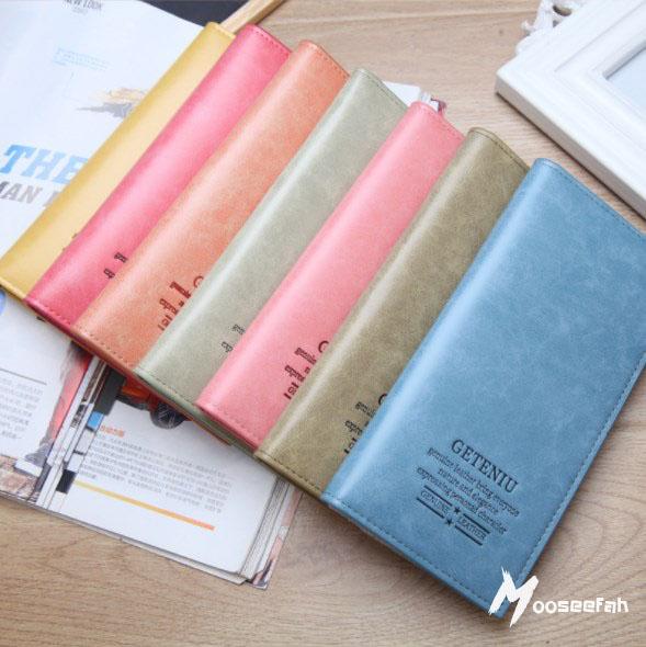 กระเป๋าสตางค์หนังใบยาว GeTeNui คละสี