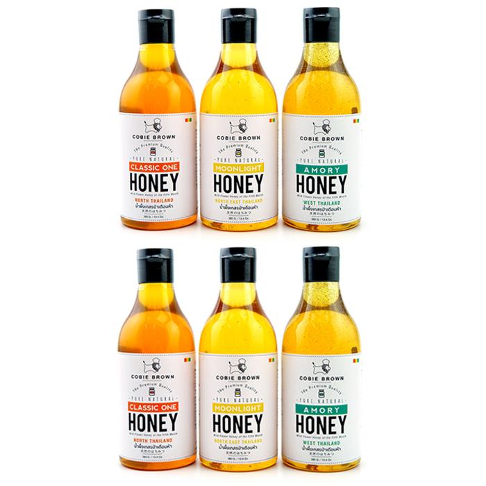 Cobie Brown Collection : Pure Natural Honey Thailand 380G. x 6 (เลือกรสได้)
