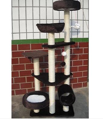 MU0090 คอนโดแมวหกชั้น ต้นไม้แมว อุโมงค์ กระบะนอน ของเล่นแขวน สูง 150 cm