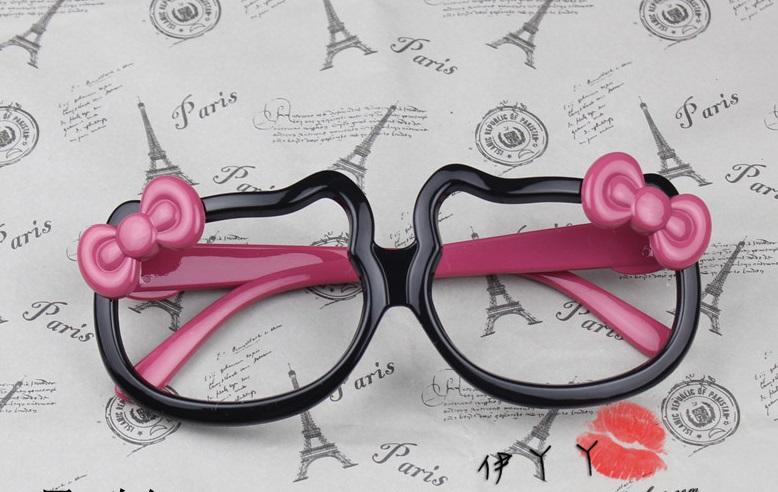 แว่นตาแฟชั่นเกาหลี กรอบคิตตี้ดำโรส (ไม่มีเลนส์)