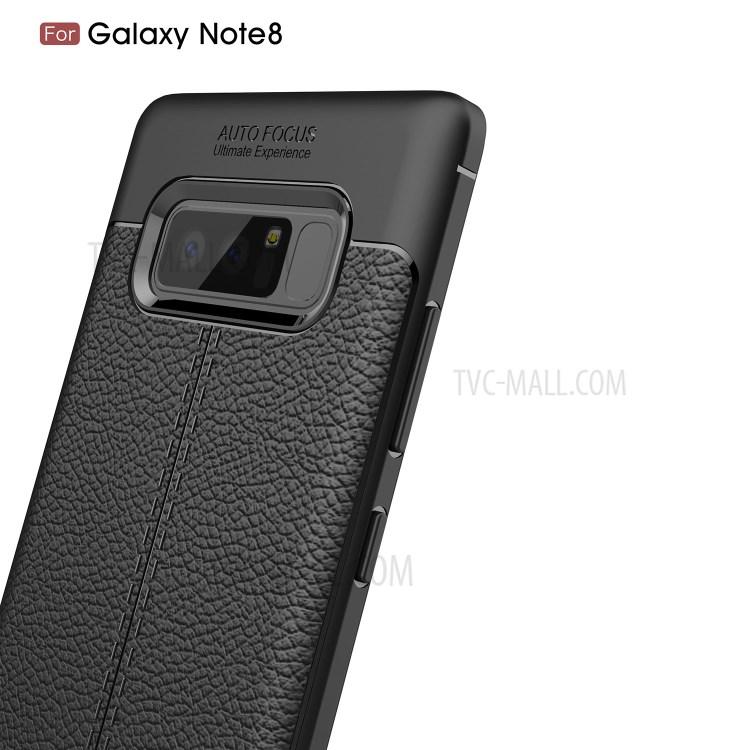 Case เคสผิวลิ้นจี่ปกอ่อน Galaxy 8 Note Pre-order Tpu แดง Samsung