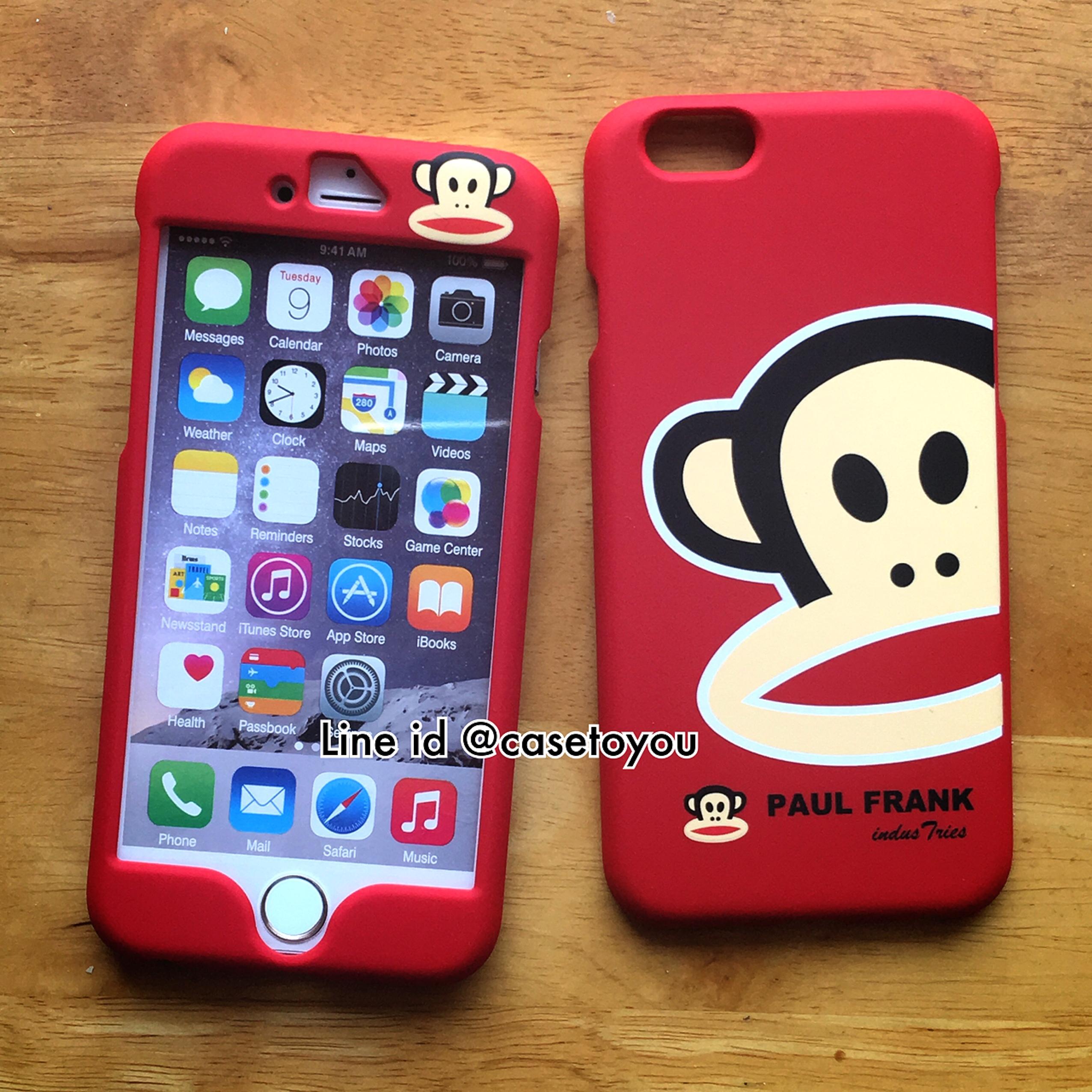 เคสประกบหน้า-หลัง Paul Frank แดง iPhone 6/6S