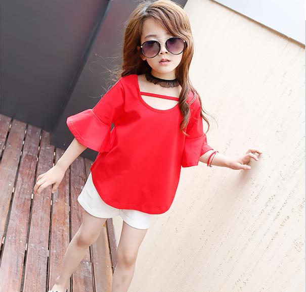 เสื้อ+กางเกง สีแดง