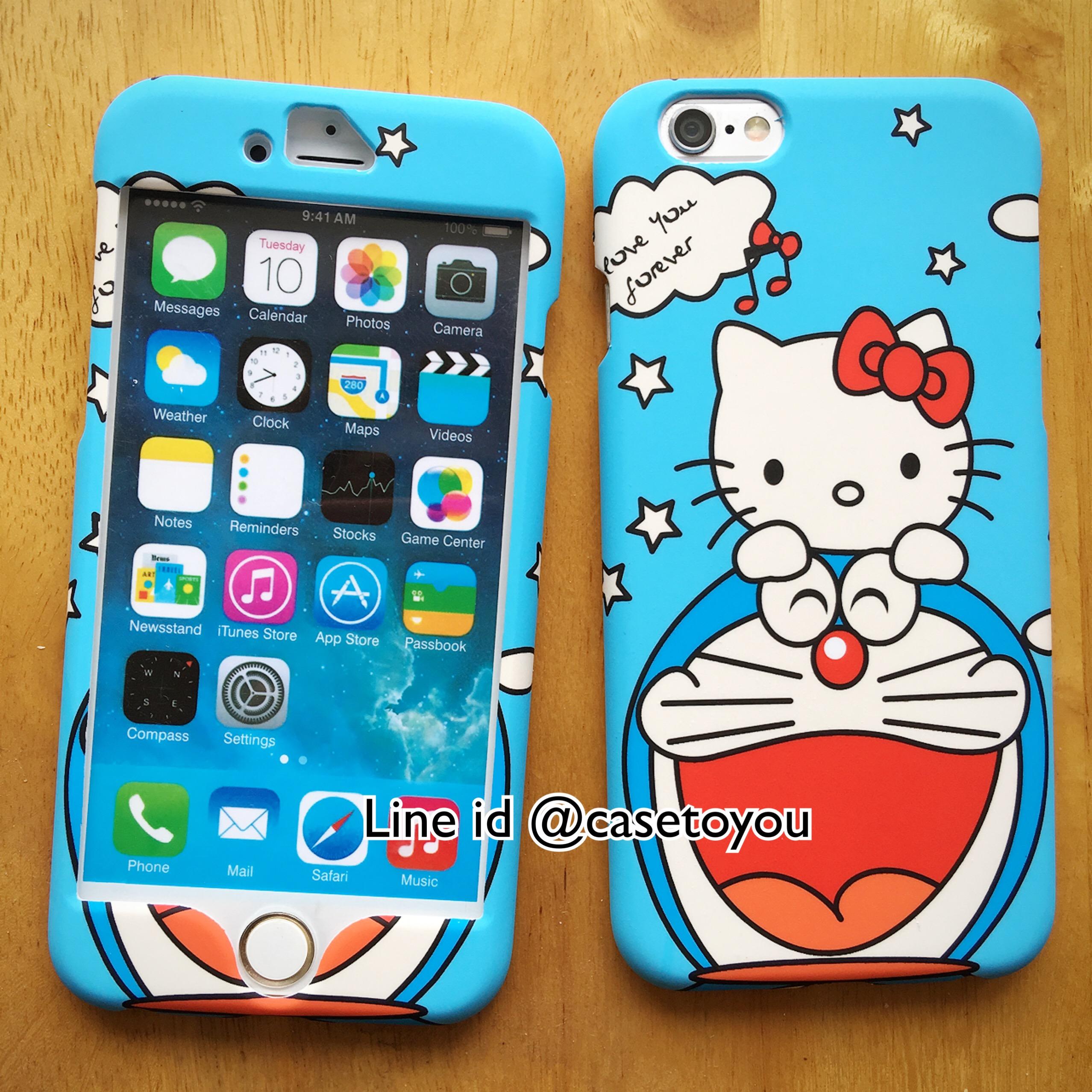เคสประกบหน้า-หลัง Doraemon 02 iPhone 6/6S