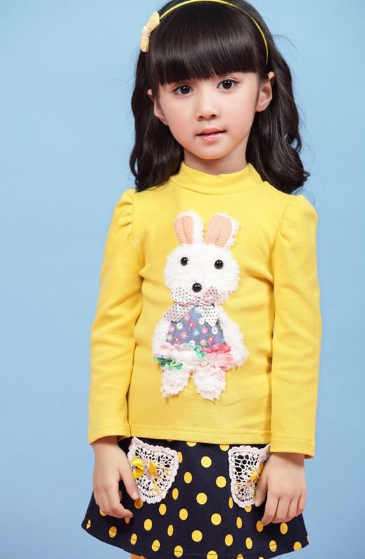 ชุดเซ็ท เสื้อสีเหลือง+กระโปรงเลคกิ้ง