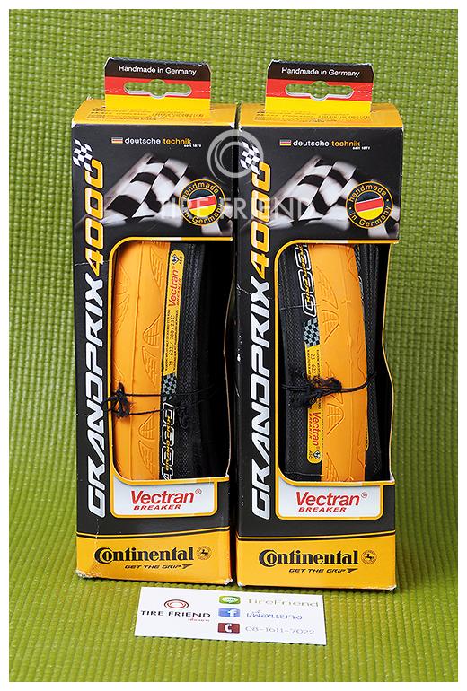 ** หมด ** ยาง Continental Grand Prix 4000 สีส้ม (Conti-Yellow)