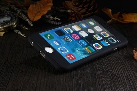 เคสประกบ 360 องศา สีดำเหลือบกากเพชร iPhone 6/6S