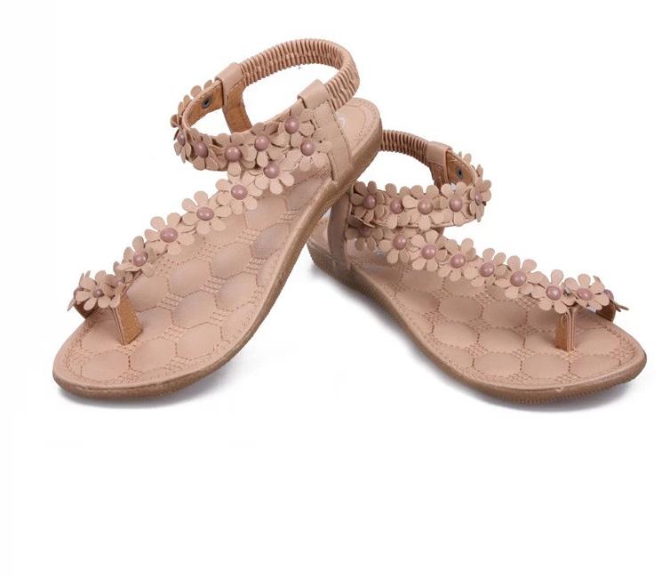 Ladyshoes รองเท้าแตะผู้หญิงแฟชั่น รุ่น LSS - 002 สีน้ำตาล