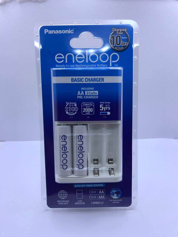 Eneloop Basic Charger AA 2000 mAh 2 ก้อน (10hrs)