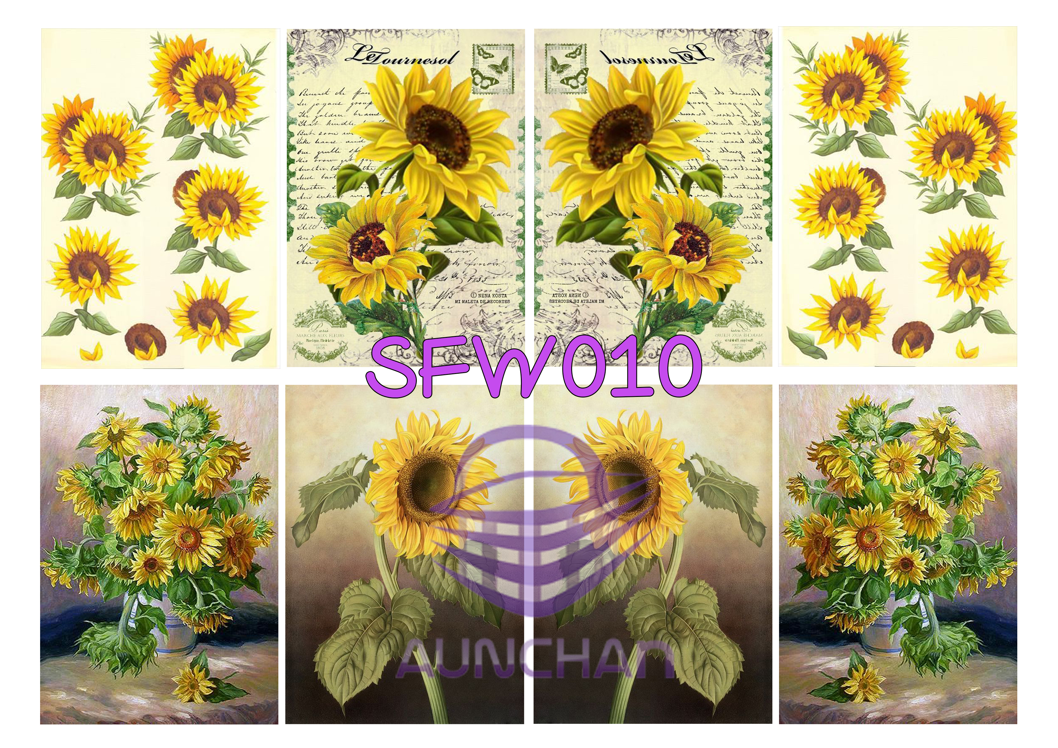SFW010 กระดาษแนพกิ้น 21x30ซม. ลายทานตะวัน