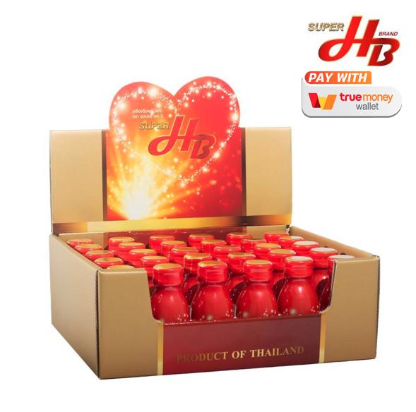 ซุปเปอร์เอชบี SuperHB เครื่องดื่มผลไม้สมุนไพรสกัดเข้มข้น บำรุงหัวใจและระบบเลือด ขวดเล็ก 30 ขวด / กล่อง