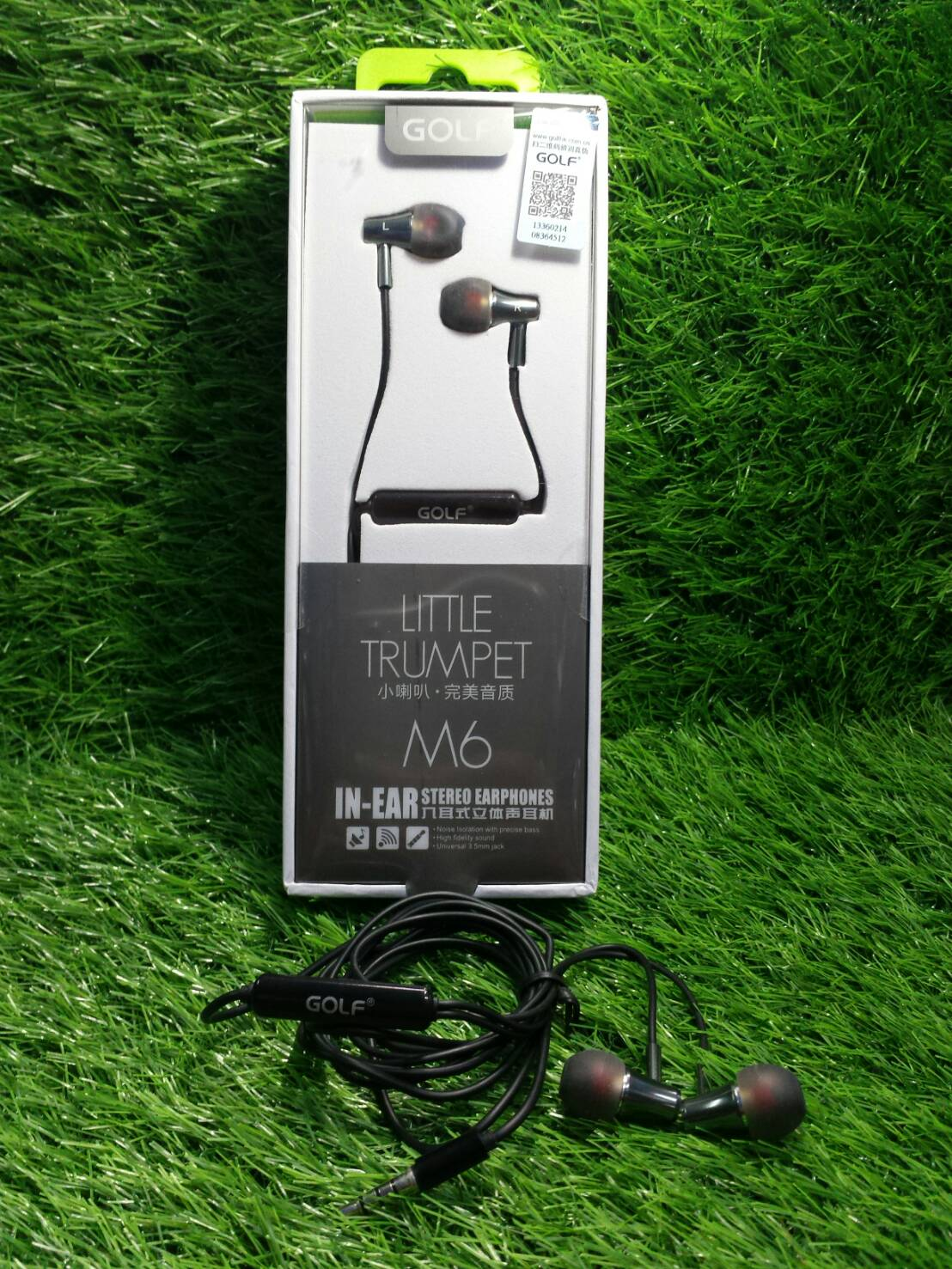 GOLF M6 LITTLE TRUMPET IN-EAR STEREO EARPHONESประกัน1เดือน