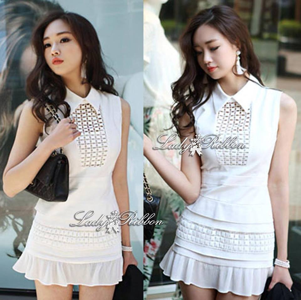 DR-LR-080 Victoria Secret Autumn Black&White Secret Mini Dress