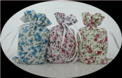 แก้วเป๊กลายหมีถุงผ้าดอกไม้