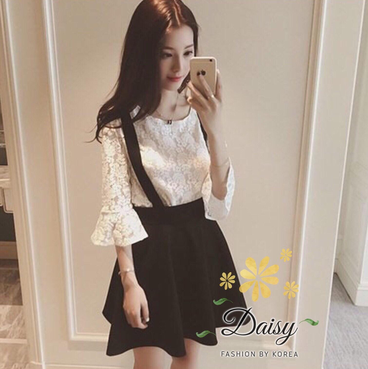 daisy stretch lace cotton andblack skirt Empoli set