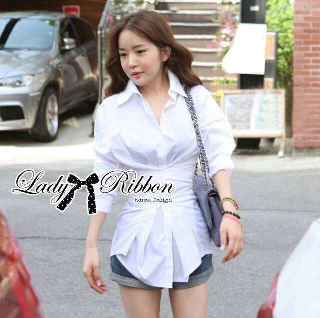 Lady Olivia Glam Chic Two-Way Shirt in White