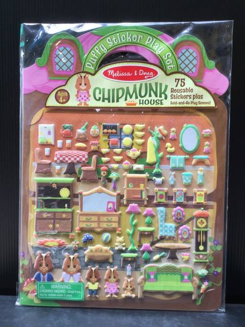 (Puffy Sticker Play Set) Chipmunk House