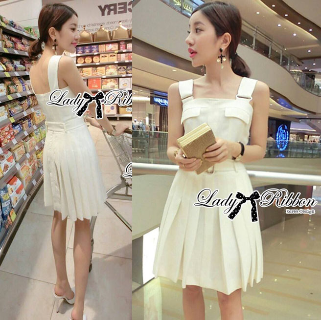 DR-LR-159 Lady Nicole Sexy Chic Pleated Dress with Belt