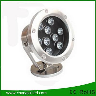โคมไฟใต้น้ำ LED 9x1W DC12V