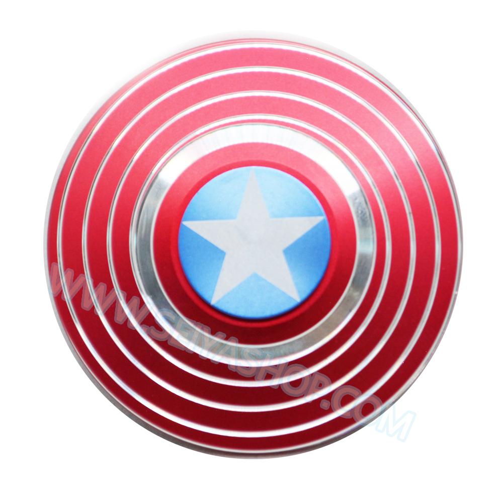HF115 Hand spinner - GYRO (ไจโร) -Fingertip Gyroscope โลหะ รุ่น Captain America