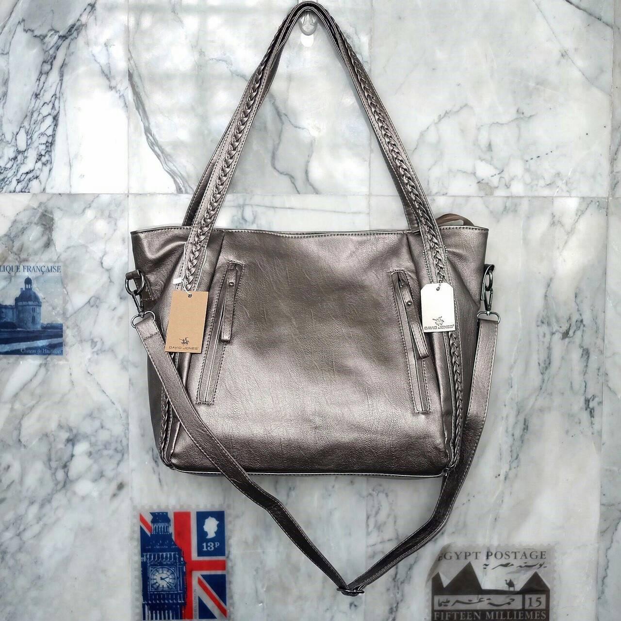 David Jones Tote Metallic grey Bag 2017
