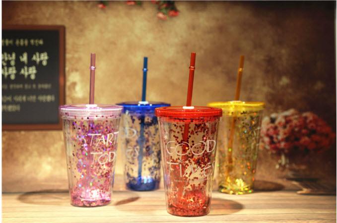 แก้วสองชั้นกากเพชร