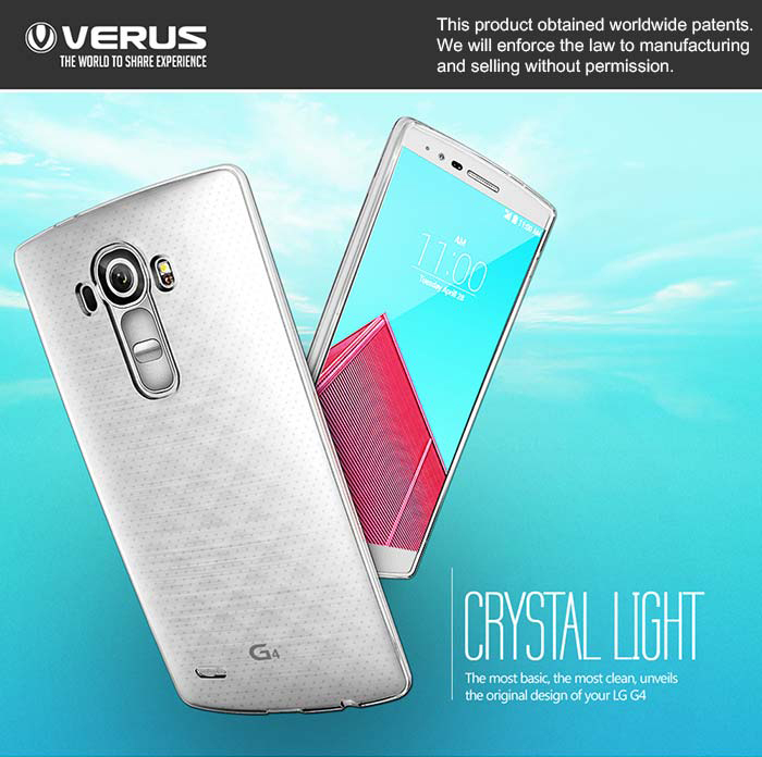 Verus : CRYSTAL LIGHT Case Cover Fitted Skin For LG G4