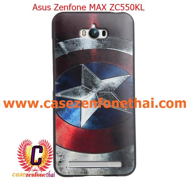 เคส asus zenfone max zc550kl TPU พิมพ์ลาย 3D Captain America